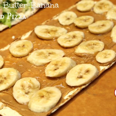 Peanut Butter and Banana Grilled Pizza