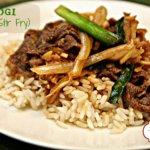 Bulgogi korean stir fry it's a keeper
