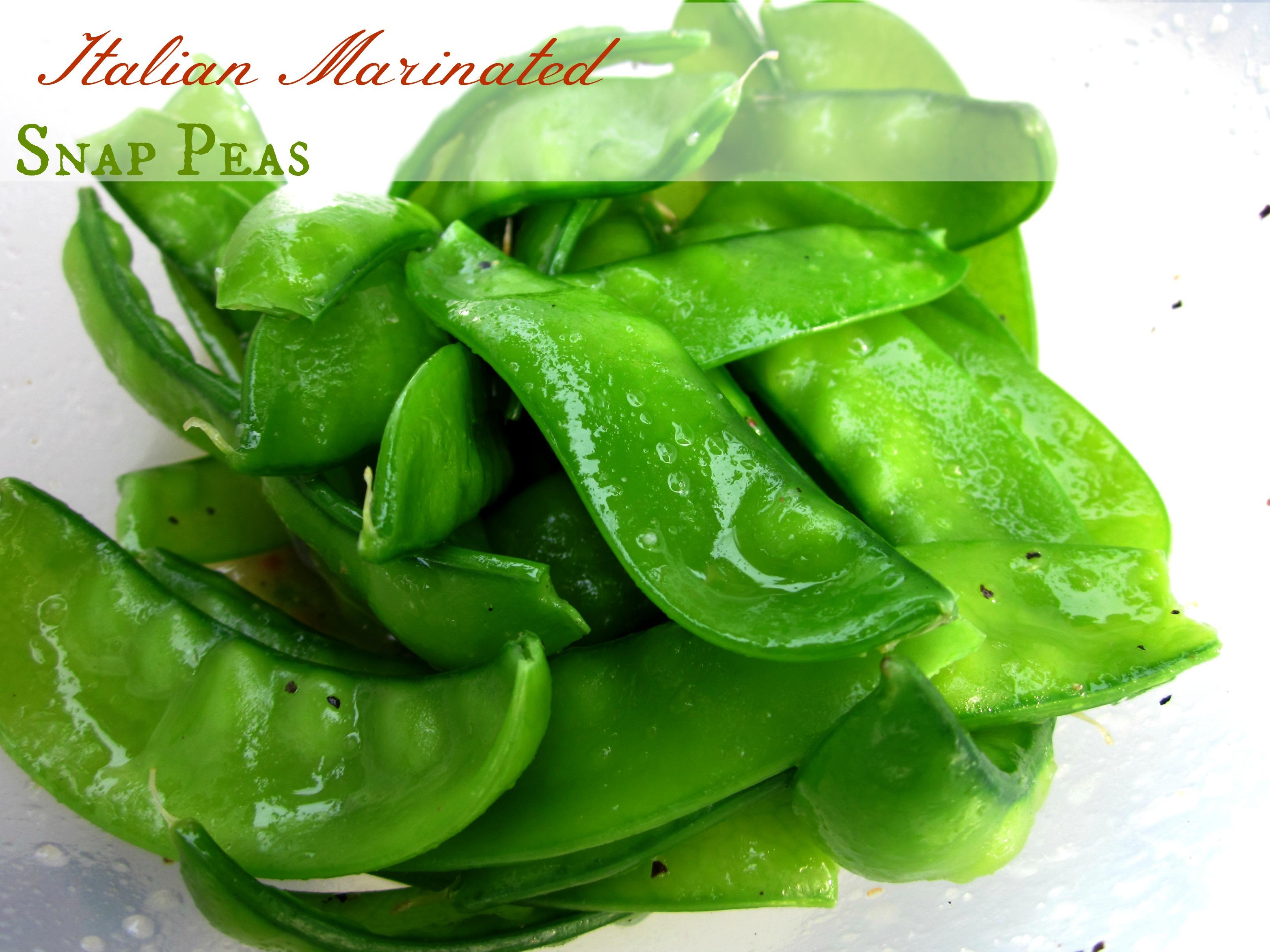 Italian Marinated Snap Peas