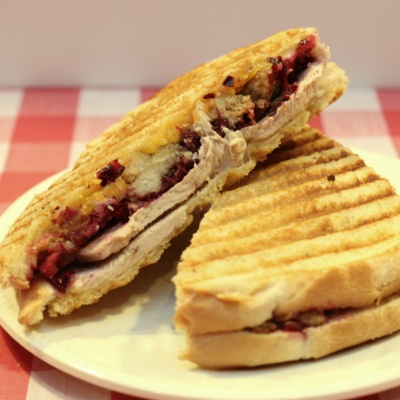 Leftover Turkey Panini