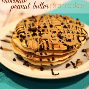 Easy Pancake recipes Chocolate Peanut Butter Pancakes from It's a Keeper