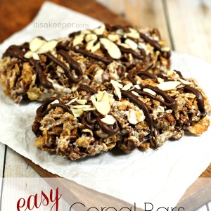 Easy Breakfast Recipes Cereal Bars It's a Keeper