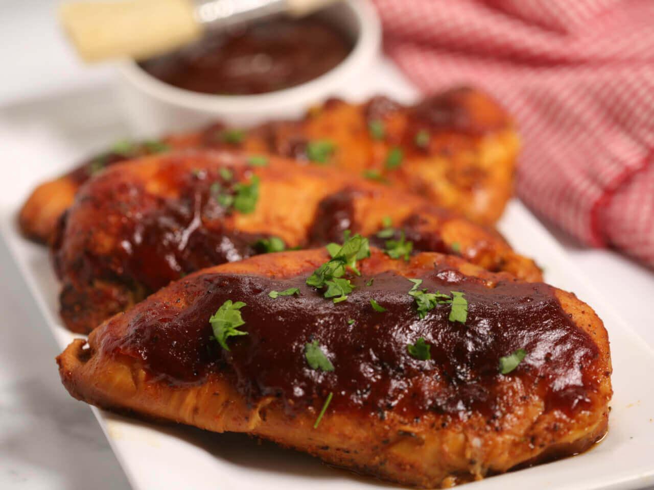 Watch Slow Cooker 3-Ingredient Glazed BBQ Chicken Breasts video