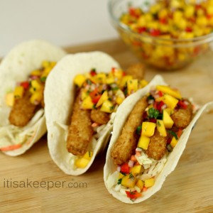 Fish Tacos with Mango Salsa Recipe from It's a Keeper
