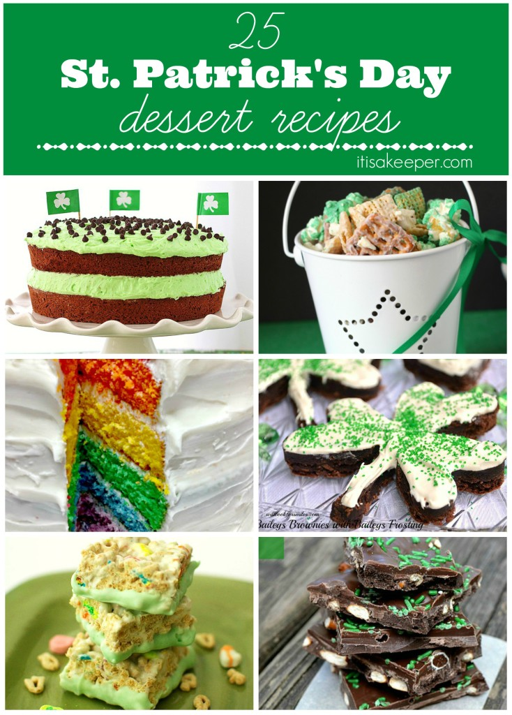 25 Saint Patricks Day Recipes Desserts