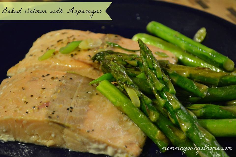 Easy Salmon Recipes: Baked Salmon with Asparagus