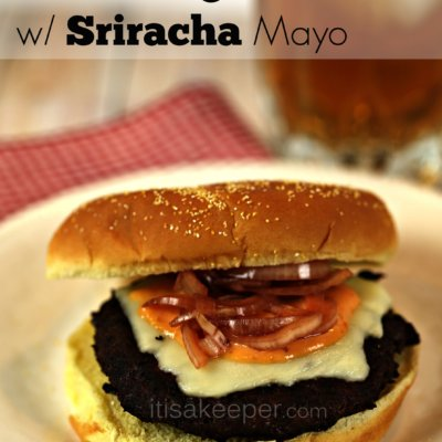 Classic Burger with Sriracha Mayo