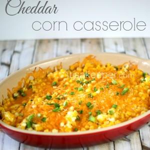 Super Easy Recipes Cheddar Corn Casserole on It's a Keeper