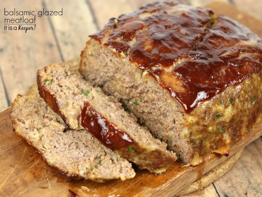 Balsamic Glazed Meatloaf - This easy meatloaf recipe is my all time favorite