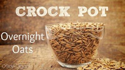 Crock Pot Oats