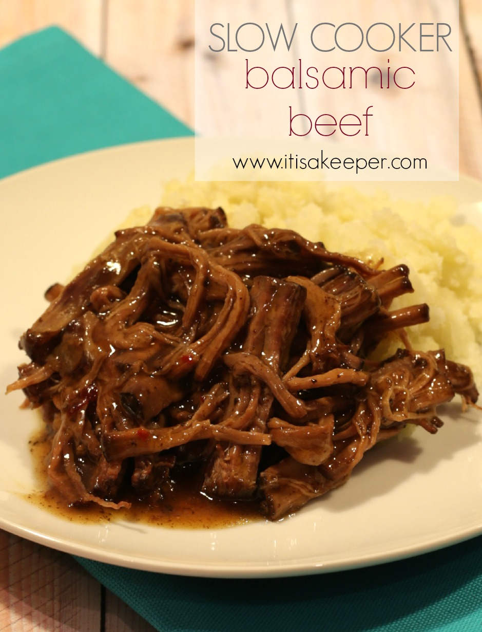 This Slow Cooker Balsamic Beef recipe is easy to make and so good, it will quickly become one of your favorite recipes. It's definitely one of the best slow cooker recipes of all time.