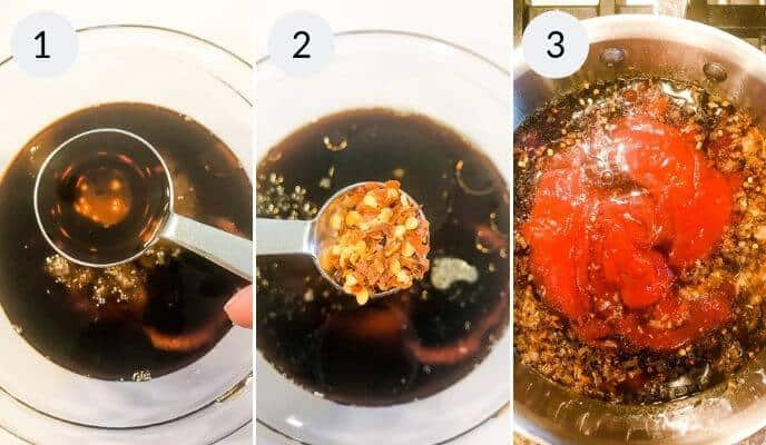 step by step instructions for making sticky chicken