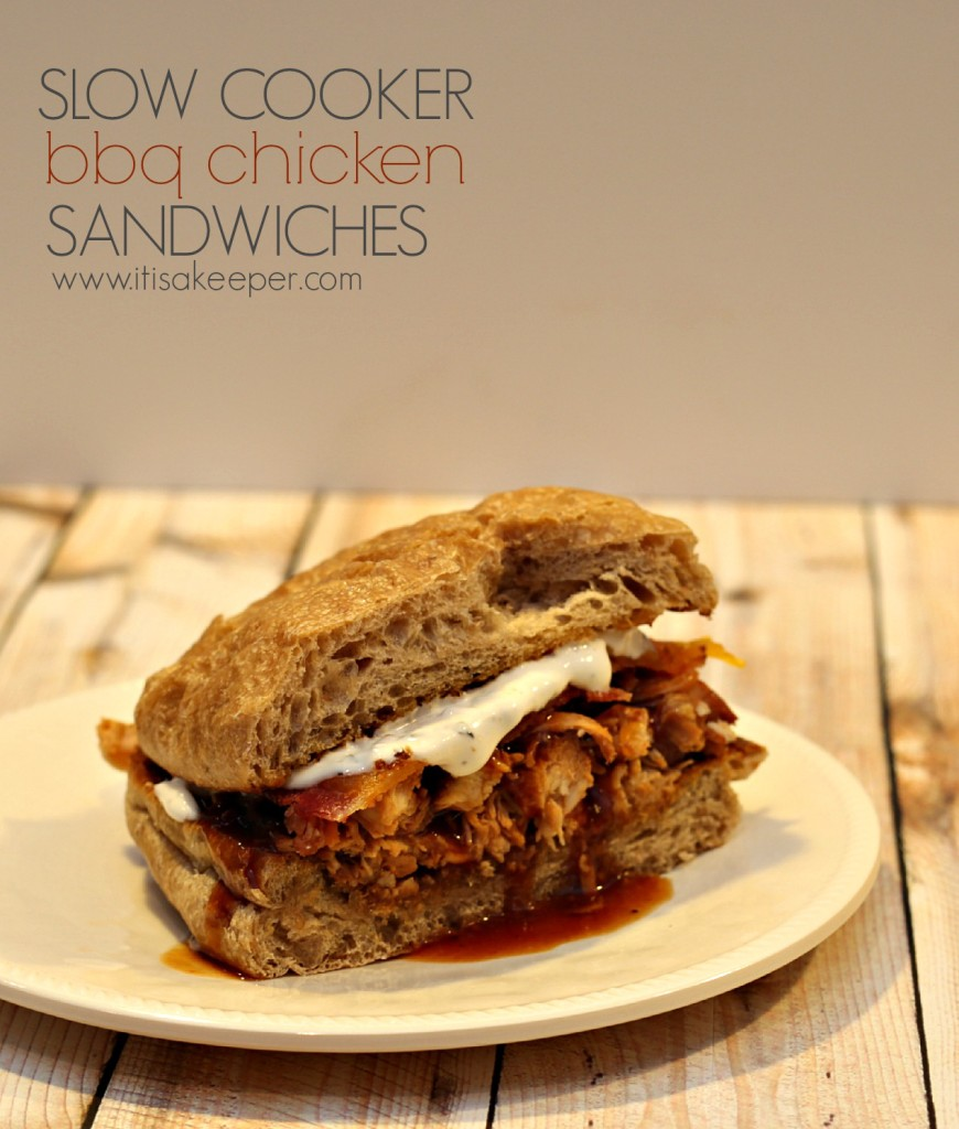 Easy Recipes for a Slow Cooker: BBQ Chicken Melt Sandwich from It's a Keeper