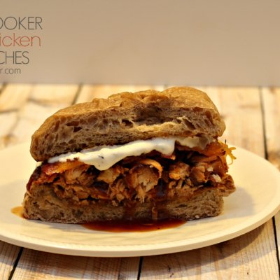 Slow Cooker BBQ Chicken Melt Sandwiches