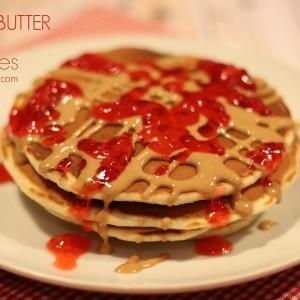 Easy Breakfast Recipes Peanut Butter & Jelly Pancakes~itisakeeper.com