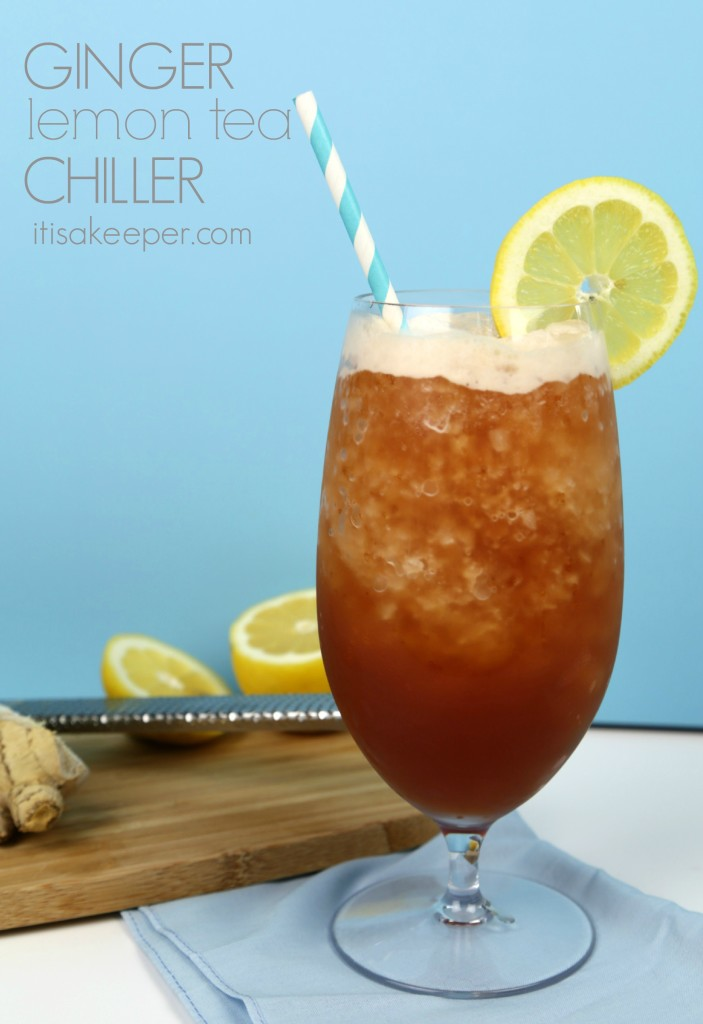 Ginger Lemon Tea Chiller on itisakeeper.com #BrewOverIce #BrewItUp