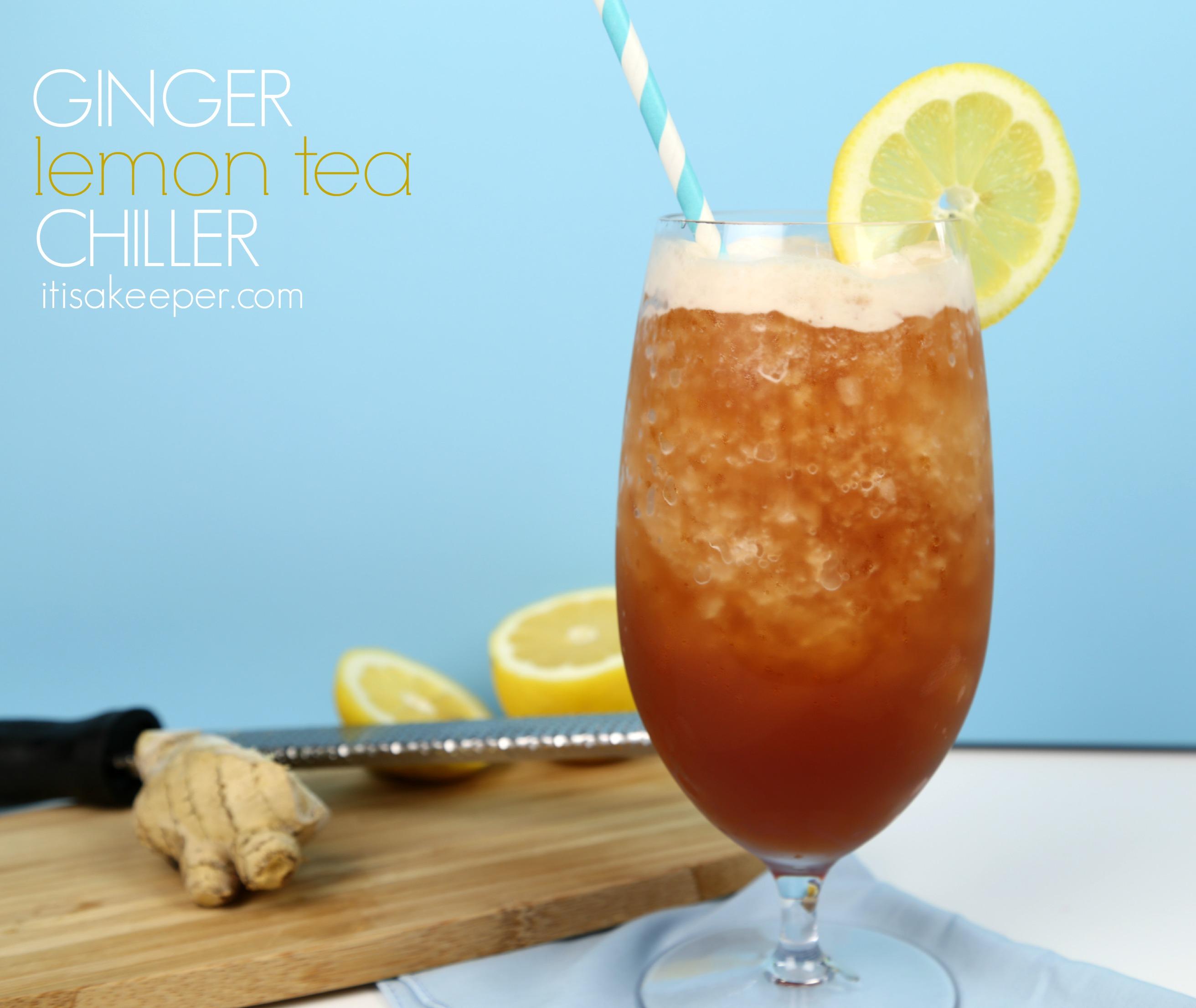 Ginger Lemon Iced Tea Chiller
