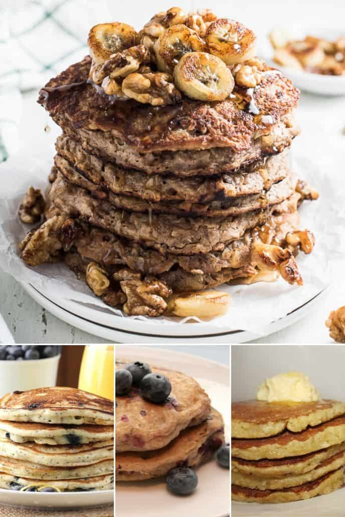 collection of fluffy pancakes recipe