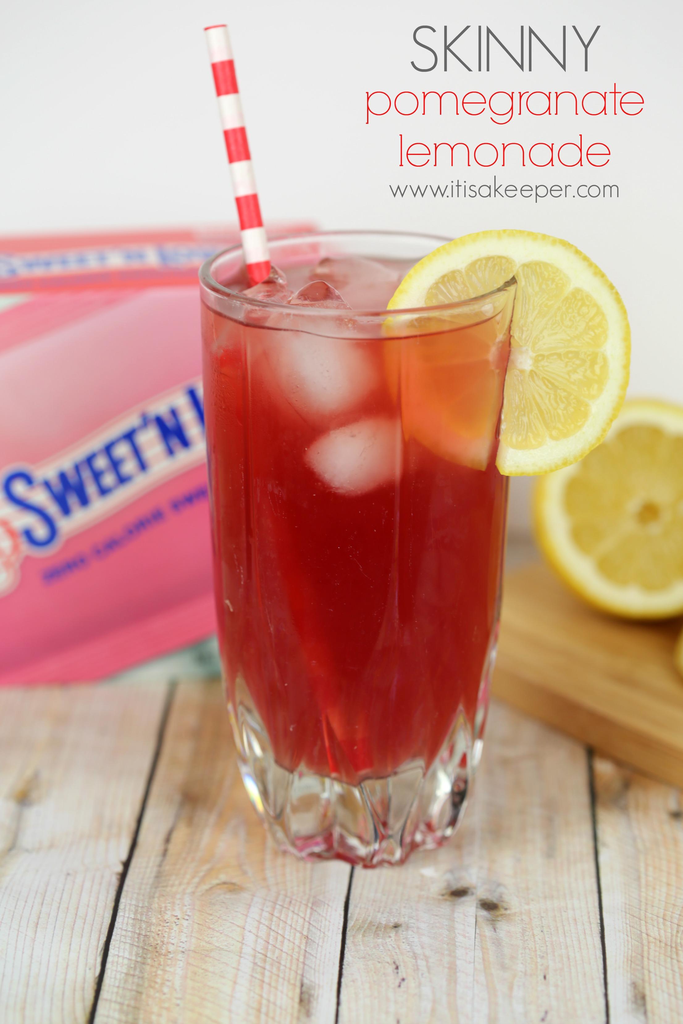 Skinny Pomegranate Lemonade