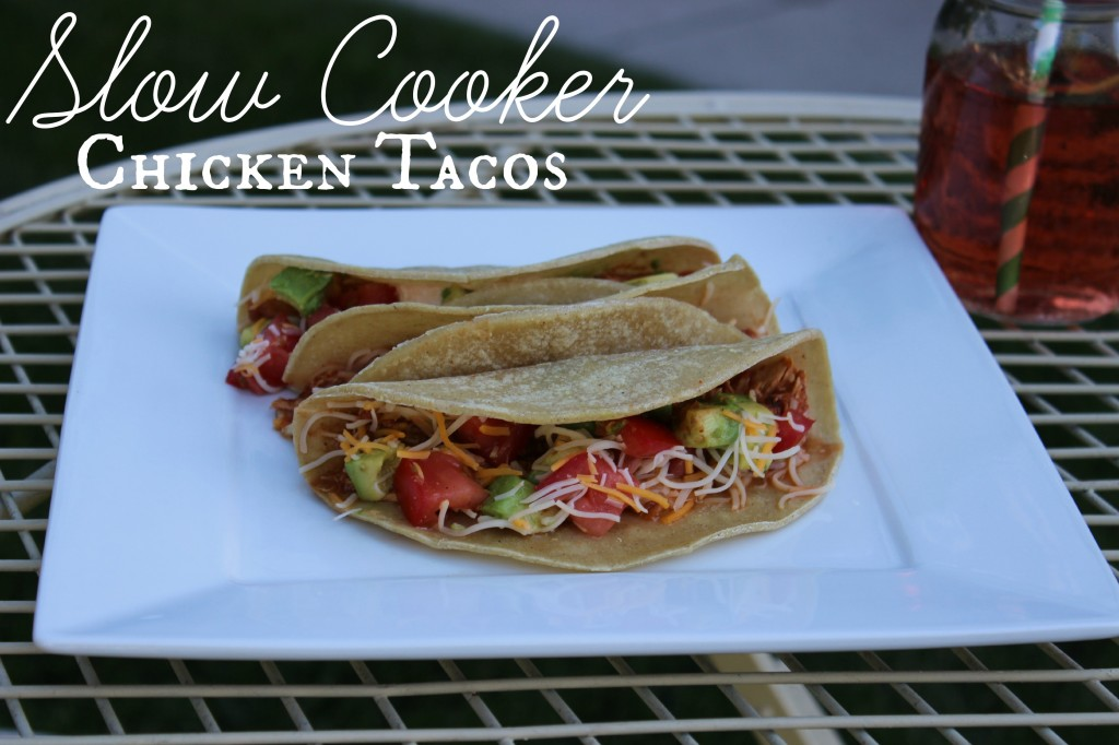 These Slow Cooker Chicken Tacos are one of the best crock pot recipes for chicken. They make a great light supper or tasty lunch.