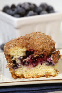 Best Blueberry Coffee Cake Recipe - this easy blueberry coffee cake streusel topping has been passed down in my family for years