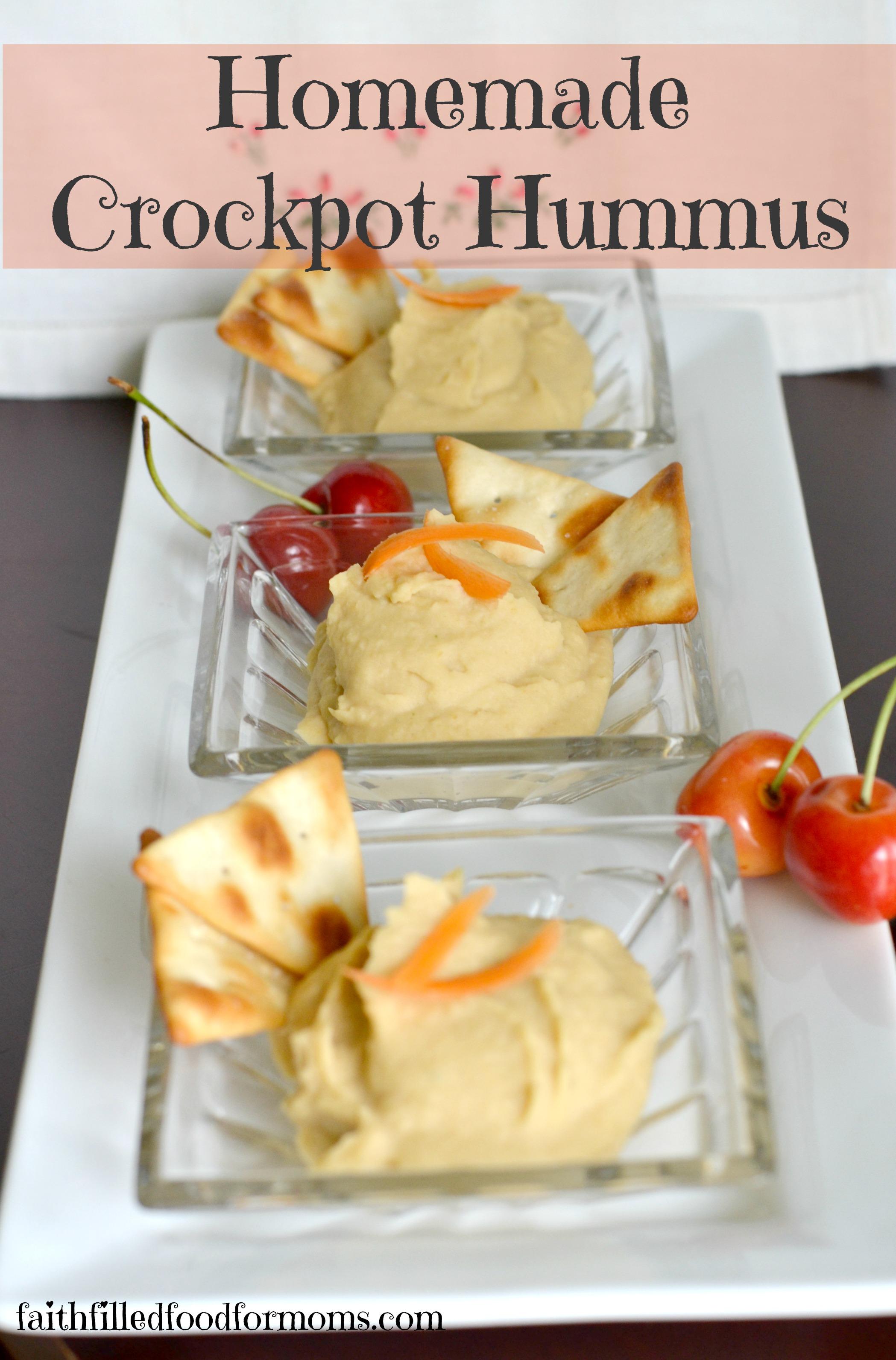 Homemade Crockpot Hummus