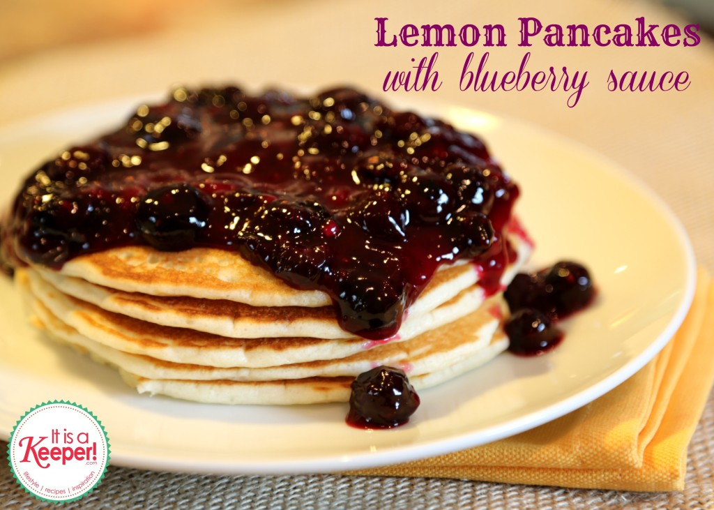 Easy Breakfast Recipes: Lemon Pancakes with Blueberry Sauce ~ www.itisakeeper.com