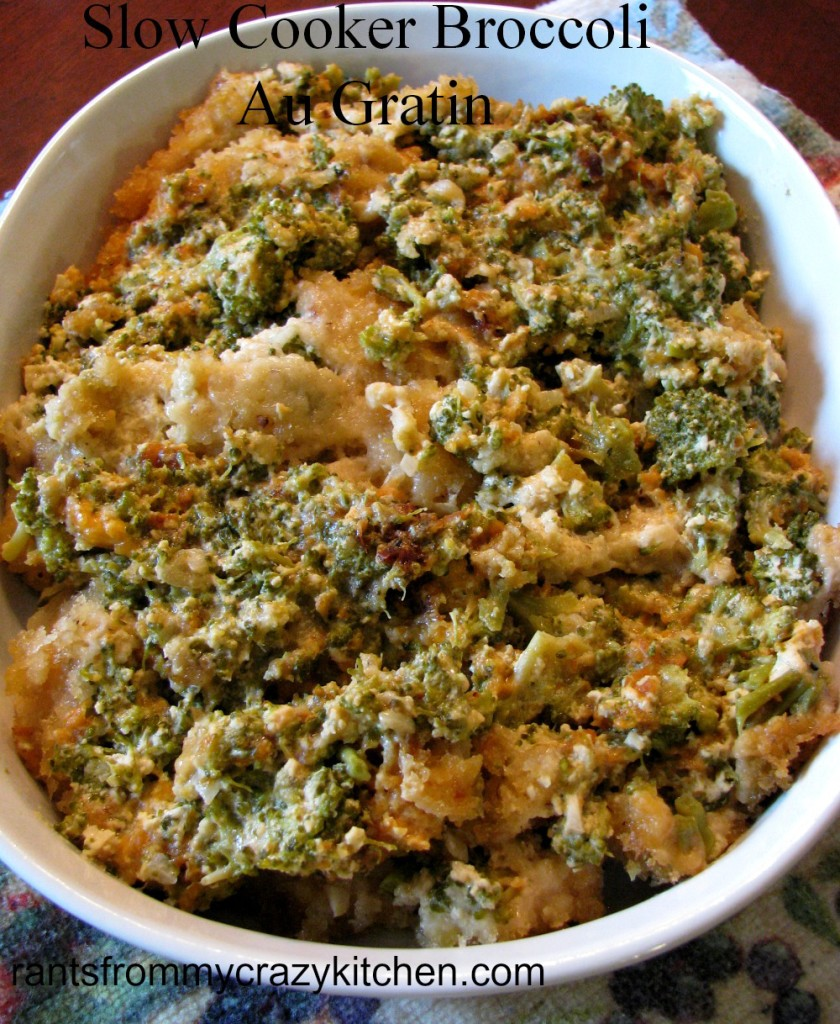Slow Cooker Broccoli Au Gratin