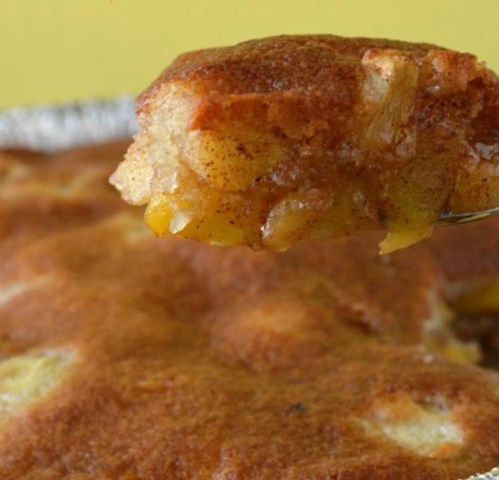 Grilled Peach Apple Cobbler