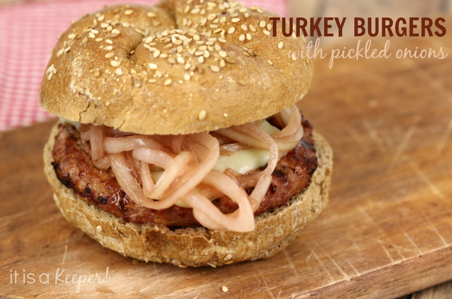 Spicy Turkey Burger with Pickled Onions - It Is a Keeper