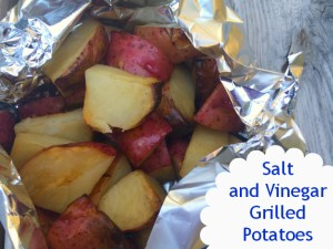 salt and vinegar grilled potatoes