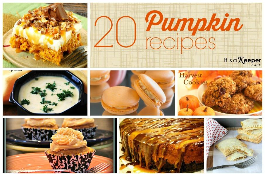 20 Pumpkin Recipes - It's a Keeper