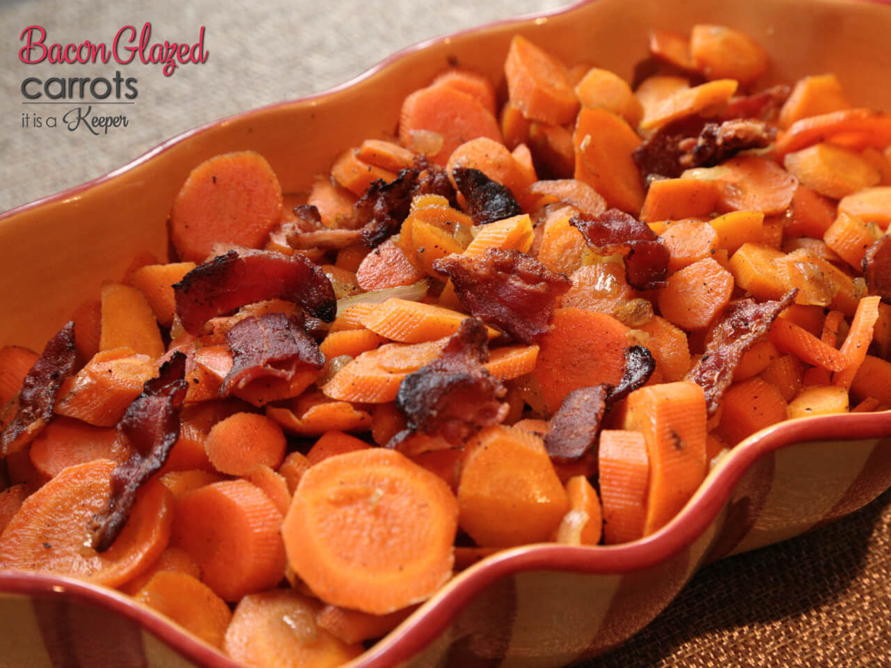 Bacon Glazed Carrots - this easy side dish recipe will quickly become a family favorite