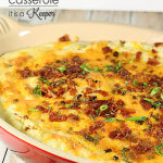 Loaded Mashed Potato Casserole - this easy side dish recipe is loaded with flavor
