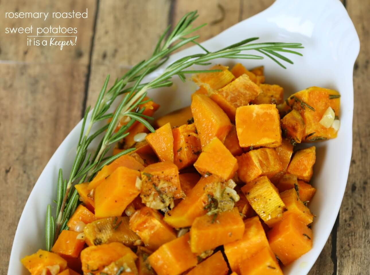 Rosemary Roasted Sweet Potatoes Recipe – an easy and delicious vegetable side dish C