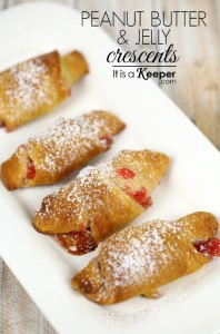 Christmas brunch recipes Peanut Butter and Jelly Crescents - It Is a Keeper