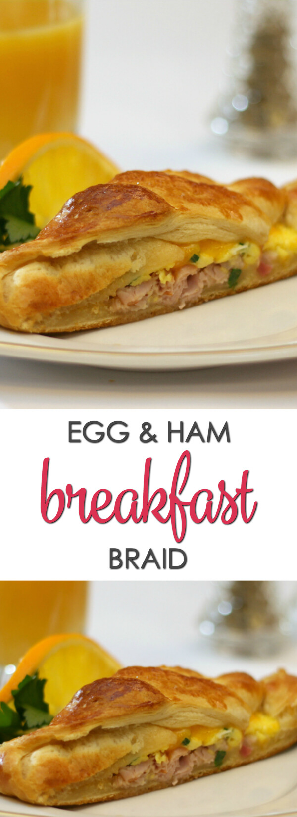 This Egg and Ham Breakfast Braid is one of my favorite easy breakfast dishes.
