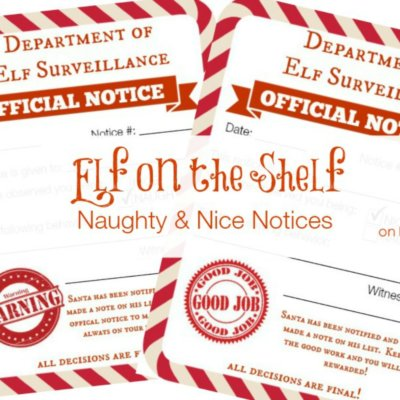 Elf on a Shelf Naughty & Nice Notices