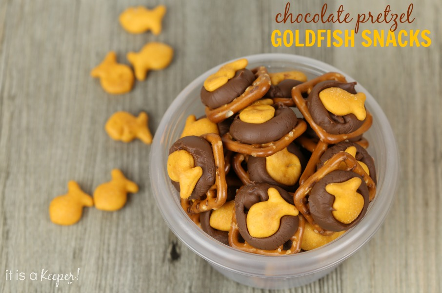 Chocolate Pretzel Goldfish Snacks - It Is a Keeper