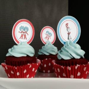 Dr. Seuss Red Velvet Cupcakes-Featured- Itsakeeper