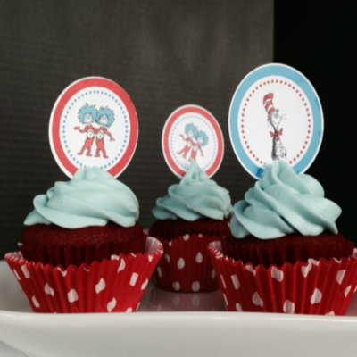 Dr Seuss Red Velvet Cupcakes
