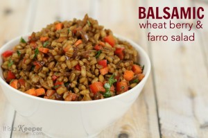 Easy Healthy Low Fat Recipe Balsamic Wheat Berry Farro Salad - It Is a Keeper