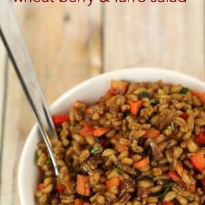 Easy Healthy Low Fat Recipe Balsamic Wheat Berry Farro Salad - It Is a Keeper