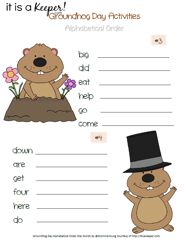 Groundhog Day Printable Activities Word Search
