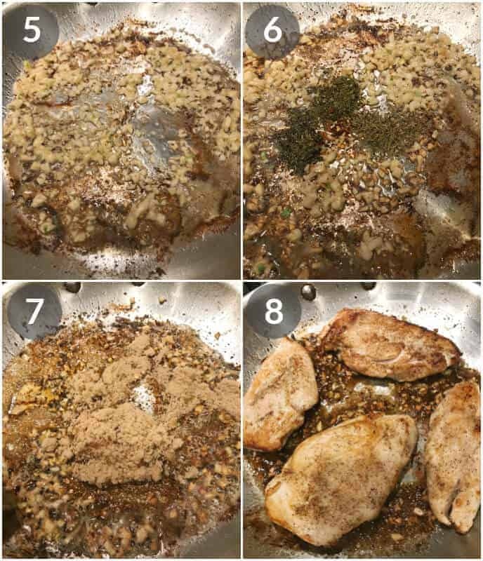 step by step photos on how to make honey glazed chicken