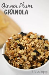 Recipe healthy Snack Ginger Plum Granola - It Is a Keeper`