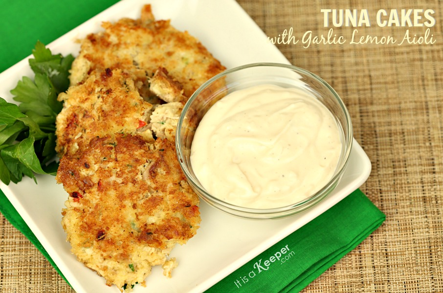 Tuna Cakes Garlic Lemon Aioli - It Is a Keeper
