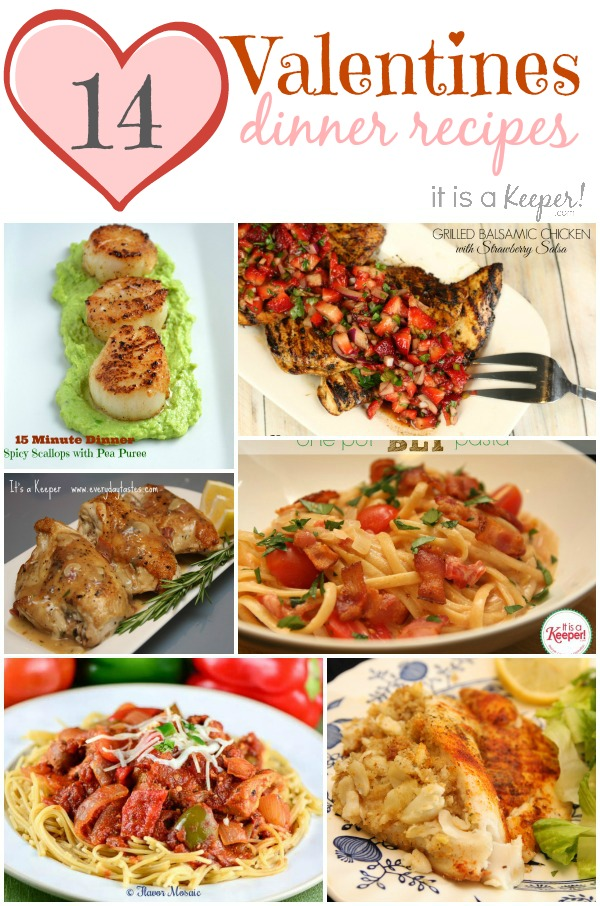 14 Valentines Dinner Recipes - It Is a keeper