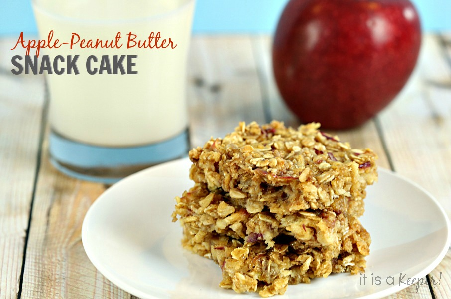 Apple Pie Cake Recipe Apple Peanut Butter Snack Cake - It Is a Keeper