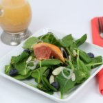 Baby Kale Spinach Salad Grapefruit Vinaigrette - It Is a Keeper